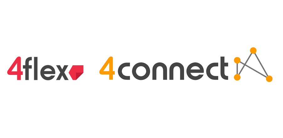 4flex and 4connect logos.
