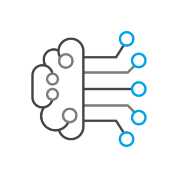 Artificial intelligence icon.