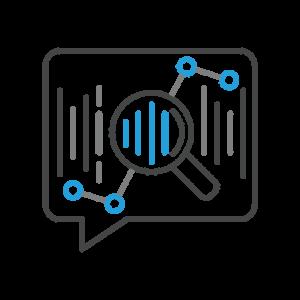 Voice analytics icon.