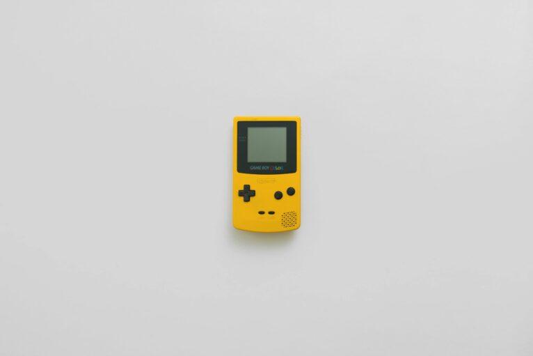 Gameboy colour console.