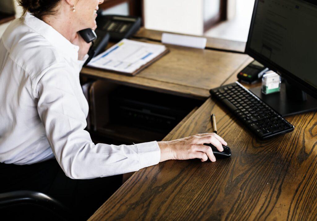 Gatekeeper working in an office.