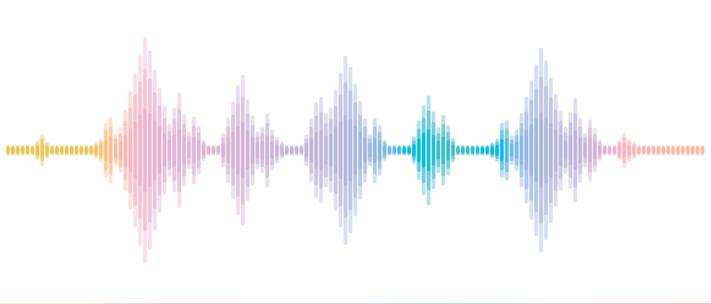 Voice waveform audio.